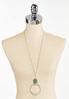 Green Druzy Pendant Necklace alternate view