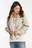 Plus Size Beige Faux Leather Jacket alternate view