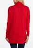 Plus Size Ribbed Cowl Neck Tunic alternate view