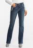 Petite Floral Embroidered Bootcut Jeans alternate view