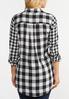 Plus Size Black And White Plaid Shirt alternate view