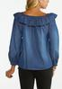 Plus Size Convertible Chambray Poet Top alternate view