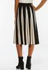 Contrast Stripe Sweater Skirt alternate view