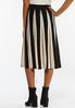 Plus Size Contrast Stripe Sweater Skirt alternate view