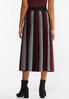 Plus Size Stripe Sweater Skirt alternate view