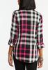 Plus Size Pink Checkered Shirt alternate view