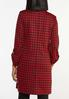 Plus Size Red Houndstooth Jacket alternate view