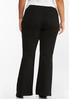 Plus Size Black Pull- On Flare Jeans alternate view
