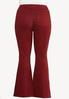 Plus Size Red Flare Jeans alternate view