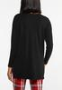 Plus Size Solid V- Neck Sweater alternate view
