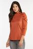 Plus Size Puff Sleeve Mock Neck Top alternate view