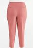 Plus Size Dusty Rose Bengaline Pants alternate view