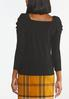Plus Size Ribbed Puff Sleeve Top alternate view