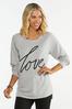 Plus Love Hacci Sweatshirt alternate view