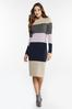 Ribbed Colorblock Sweater Dress alternate view