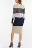 Ribbed Colorblock Sweater Dress alt view