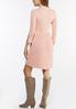 Plus Size Mock Neck Pleated Dress alternate view