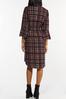 Plus Size Plaid Tie Waist Dress alt view