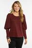 Plus Size Houndstooth Puff Sleeve Top alternate view