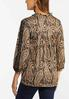 Plus Size Paisley Lace Inset Sleeve Top alternate view