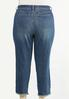 Plus Size Distressed Ankle Jeans alternate view