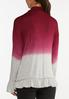 Plus Size Ruffled Ombre Hacci Top alternate view