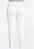 Plus Size White Skinny Jeans alternate view