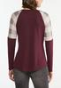 Check Sleeve Raglan Top alternate view