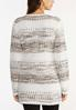 Plus Size Sandy Stripe Cardigan Sweater alternate view