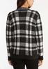 Plus Size Plaid Zip Cardigan Sweater alternate view