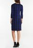 Plus Size Blue Houndstooth Sweater Dress alternate view