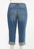 Plus Size Distressed Boyfriend Jeans alternate view