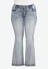 Plus Size Sparkle Pocket Bootcut Jeans alternate view