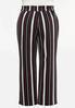 Plus Size Pink Stripe Wide Leg Pants alternate view