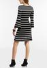 Plus Size Striped Bell Sleeve Sweater Dress alternate view