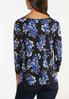 Plus Size Twisted Blue Blossom Top alternate view