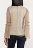 Plus Size Gold Shimmer Bell Sleeve Top alternate view