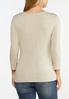 Plus Size Solid Long Sleeve Tee Shirt alternate view