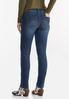 High- Rise Button Skinny Jeans alternate view