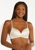 Plus Size Ivory Black Wire- Free Bra Set alternate view
