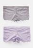 Plus Size Lavender Lace Boy Short Panty Set alternate view