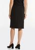 Plus Size Silver Button Pencil Skirt alternate view