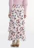 Plus Size Tiered Floral Maxi Skirt alternate view