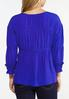 Plus Size Gathered Blue Babydoll Top alternate view