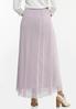Plus Size Lavender Mesh Maxi Skirt alternate view