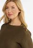 Button Shoulder Sweater alt view