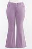 Plus Size Lavender Flare Jeans alternate view