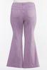 Plus Size Lavender Flare Jeans alt view
