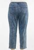 Plus Size Acid Wash Girlfriend Jeans alternate view