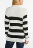 Plus Size Striped Mock Neck Sweater alternate view